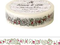 Washi Tape Olive Lease 15mm