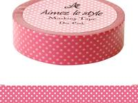 Washi Tape Dots Pink 15mm
