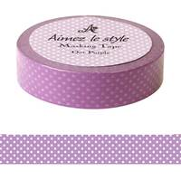 Washi Tape Dots Purple 15mm