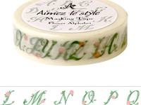 Washi Tape Flower Alphabets 15mm