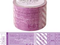 Wide Washi Tape Tickets 38mm