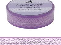 Washi Tape Antique Lace Purple 15mm