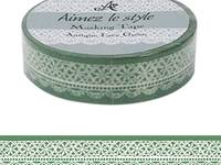 Washi Tape Antique Lace Green 15mm