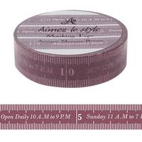 Washi Tape Antique Measure Brown 15mm
