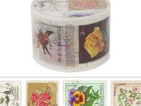 Wide Washi Tape Vintage Stamp 38mm
