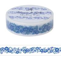Washi Tape Blue Flowers 15mm