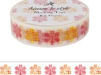 Washi Tape Quilt Flowers 15mm