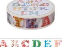 Washi Tape Quilt Alphabets 15mm