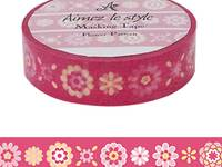 Washi Tape Flower Pattern 15mm