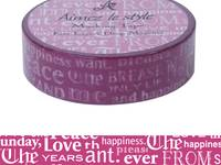Washi Tape Font Layers Deep Magenta 15mm