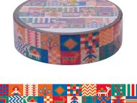 Washi Tape Gabbeh Pattern 15mm