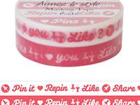 Washi Tape 2er Set Pin It 10mm