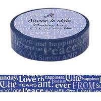 Washi Tape Font Layers Navy 15mm