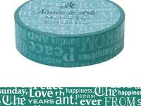 Washi Tape Font Layers Green 15mm
