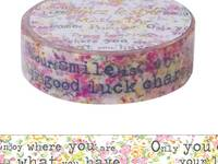 Washi Tape Typing Letters Pink 15mm