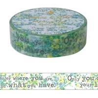 Washi Tape Typing Letters Blue 15mm