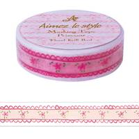 Washi Tape Floral Frill Red 15mm