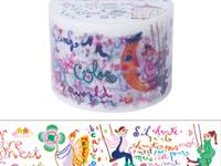 Wide Washi Tape Colorful Letters 38mm