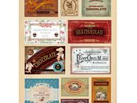 Sticker Vintage Label Chocolate