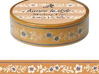 Washi Tape Antique Lilies Beige 15mm