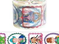 Wide Washi Tape World Children 38mm
