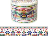Wide Washi Tape Folk Art 38mm