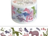 Wide Washi Tape Botanic animal 38mm