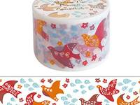 Wide Washi Tape Patterned Bird 38mm