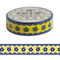 Washi Tape Polish Flower 15mm