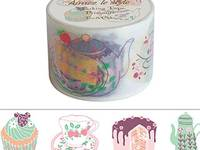 Wide Washi Tape Tea & Cake 38mm