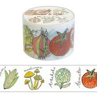 Wide Washi Tape Vegetable 38mm