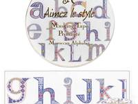 Washi Tape Moroccan Alphabet 28mm