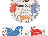 Washi Tape Relaxed Animals 28mm