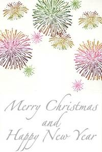 Stempel Merry Christmas and Happy New Year