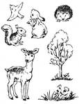 Stempelset Forest Animals