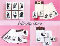 Silhouette Stamp Cat