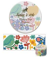 Wide Washi Tape Finnish Flower 38mm