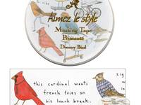 Wide Washi Tape Dreamy Bird 38mm