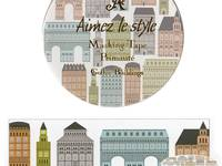 Wide Washi Tape Gothic Buildings 38mm