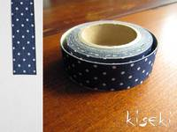Masking Tape textil Baumwolle dots Navy 15mm