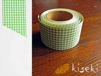 Masking Tape textil Baumwolle checked Green 30mm