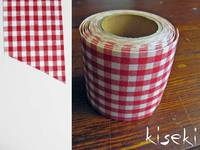 Masking Tape textil Baumwolle checked Red 45mm