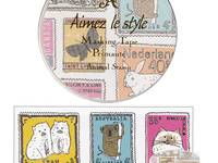 Wide Washi Tape Animal Stamp 38mm