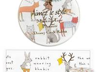 Wide Washi Tape Dreamy Cat & Rabbit 38mm