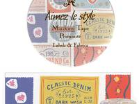 Wide Washi Tape Labels & Fabrics 38mm