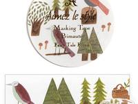 Wide Washi Tape Fairy Tale Forest 38mm