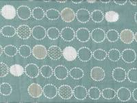 Dot Circle seafoam double gauze