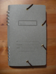 pocket notebook gray