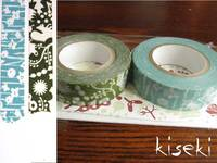 Washi Tape forest of squirrel & small flower 2er Set E 15mm