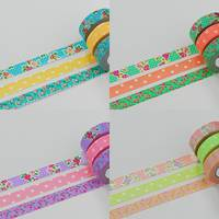 Washi Tape Rose light green 3er Set 15mm